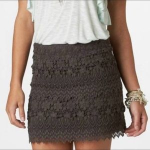 American Eagle charcoal lace skirt